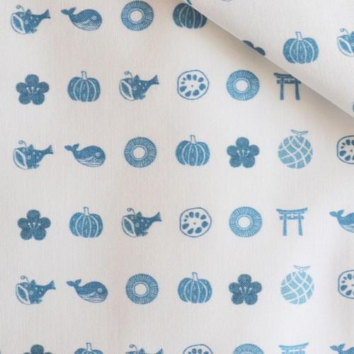 <トチノモノ> ファブリック 藍色