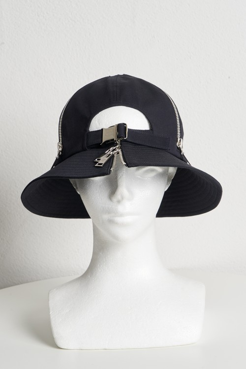 Buckle Belt Dome Hat / Black [21SS COLLECTION]