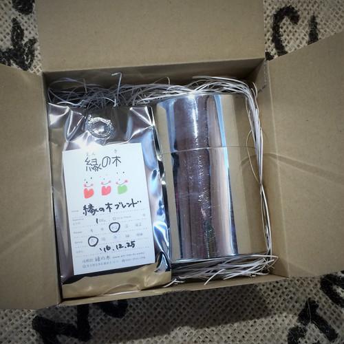 【ギフト】コーヒー200gと手作りブリキ缶の詰め合わせ