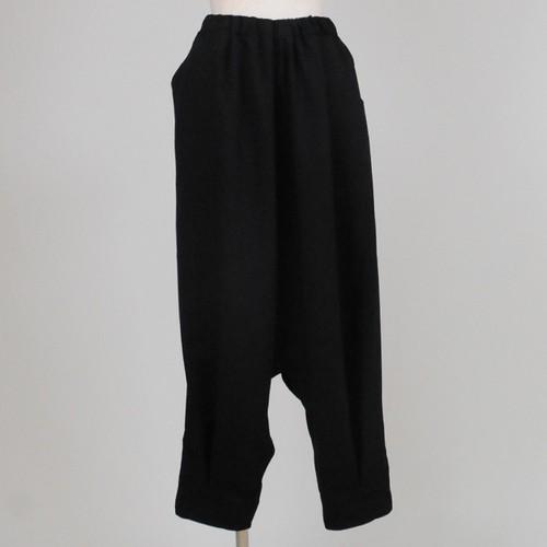 裾すぼまりサルエルパンツ/KUD25-P010/BK/M