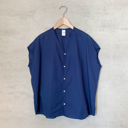 【NO CONTROL AIR】コットンリネン ラフボイルVネックシャツ/S9-NC246S0
