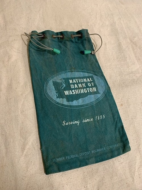 "BANK BAG "" NATIONAL BANK OF WASHINGTON #1 """
