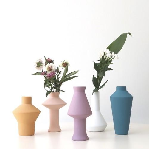 mat color ceramic vase 5types / マットカラー セラミック 花瓶 オブジェ 韓国 北欧