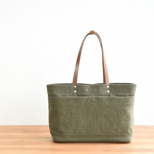 CANVAS MAGAZINE TOTE S / ARMY