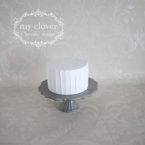 [受注制作]Φ15cm×H9cm クリームクレイカバーケーキC(縦)