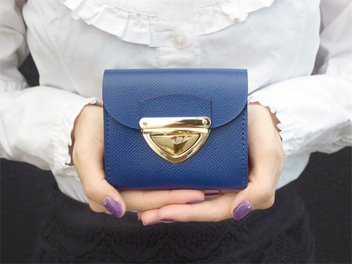 身軽にキメたい時のコンパクト財布|P式パーティーレザー・ロイヤルブルー