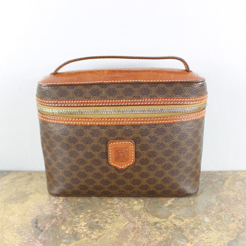 .OLD CELINE MACADAM PATTERNED BANITY BAG MADE IN ITALY/オールドセリーヌマカダム柄バニティバッグ 2000000037509