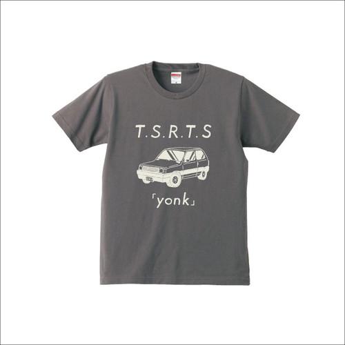 """【SALE】Tシャツ """"yonk"""" / チャコール"""