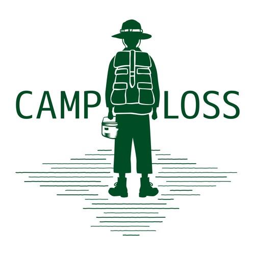 CAMP LOSS キャンプ行きたい プリントTシャツ