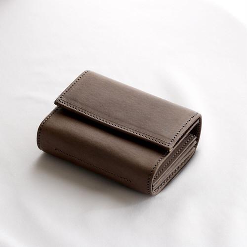 f wallet (wax brown)