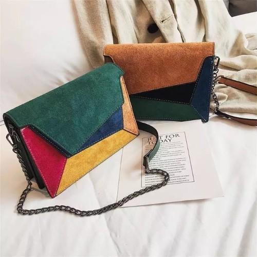 ♡送料無料♡ import 4色 ベルベット カラー ショルダーバッグ【お取り寄せ】