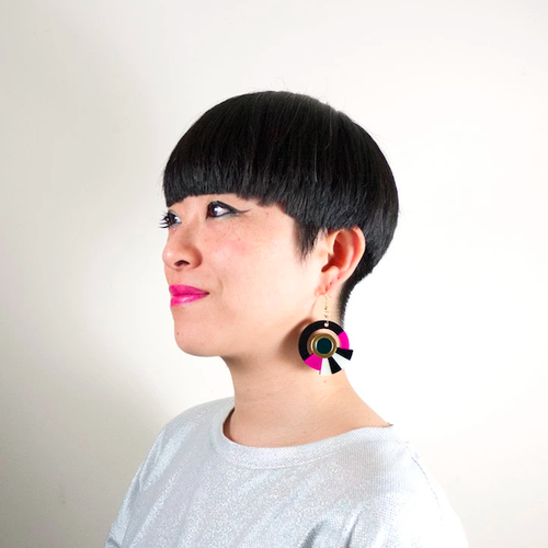 "MYSTIC FORMS""Geometric Perspex Statement Earrings"" FORM017 ピアス"