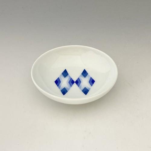 【中尾英純】和紙染菱文豆皿