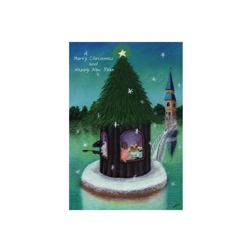 雪のこんぺいとう 亀岡亜希子 ポストカード 絵葉書