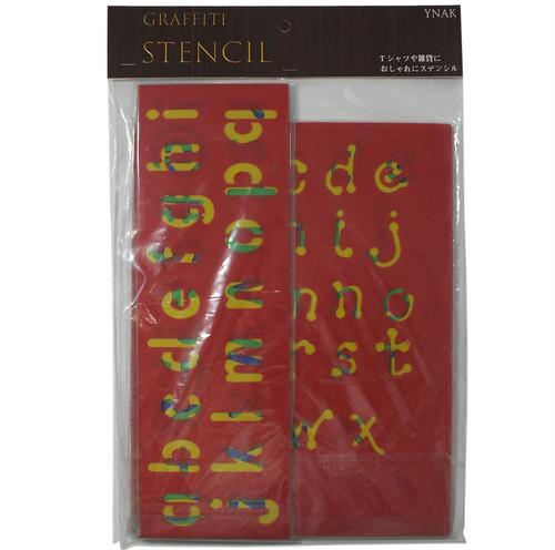 YNAK ステンシルシート アルファベット と 数字 セット (小文字10枚)