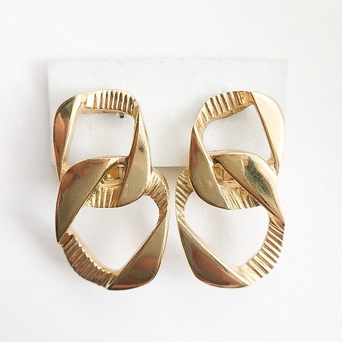 """""""GIVENCHY"""" gold chain earring[e-1049]"""