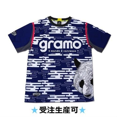プラクティスシャツ「foggy」(ネイビー/P-034)☆受注生産可☆