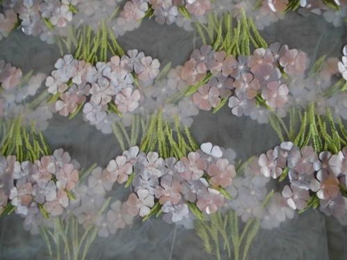 刺繍チュール (薄パープル)