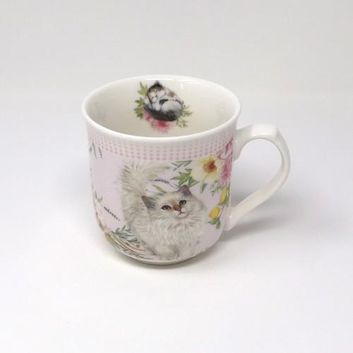 猫マグカップ(白ネコ)