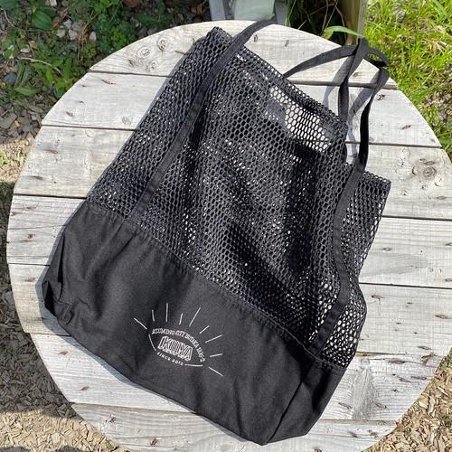 mesh  bag《 black × silver 》