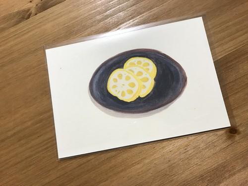 ポストカード(辛子蓮根)
