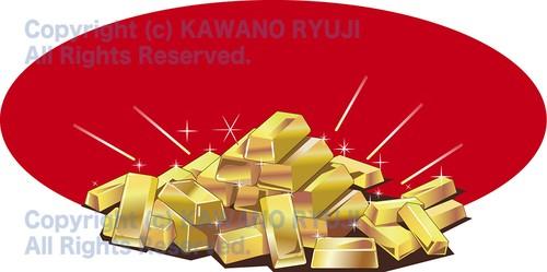 金塊のベクターイラストイメージ_.aiデータ(ベクター)