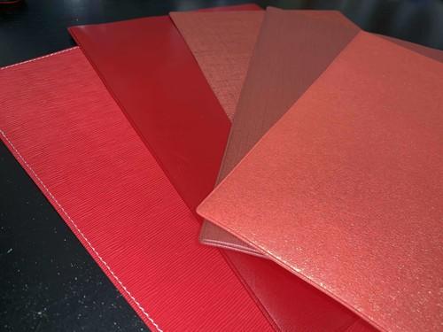 手帳カバー赤系