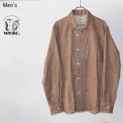 【ラスト1点】weac. コーデュロイジップシャツ ZIP SHIRTS2 (BEIGE) 【Men's】
