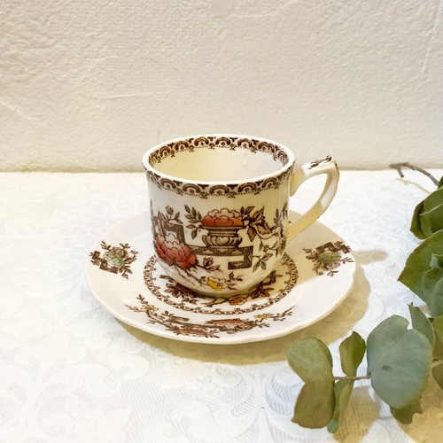 "30's Vintage Demitas Tea Cup&Saucer ""Crown Ducal""  from FIRENZE [CCV-1]"