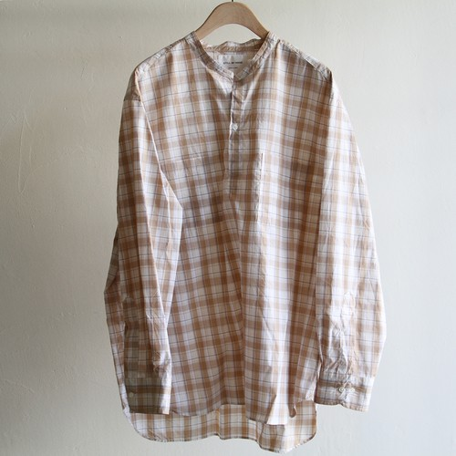 STILL BY HAND【 mens 】check pullover shirts