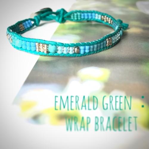 emerald green:wrap bracelet