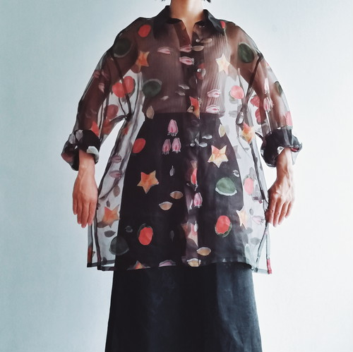 JAPAN USED See through blouse.