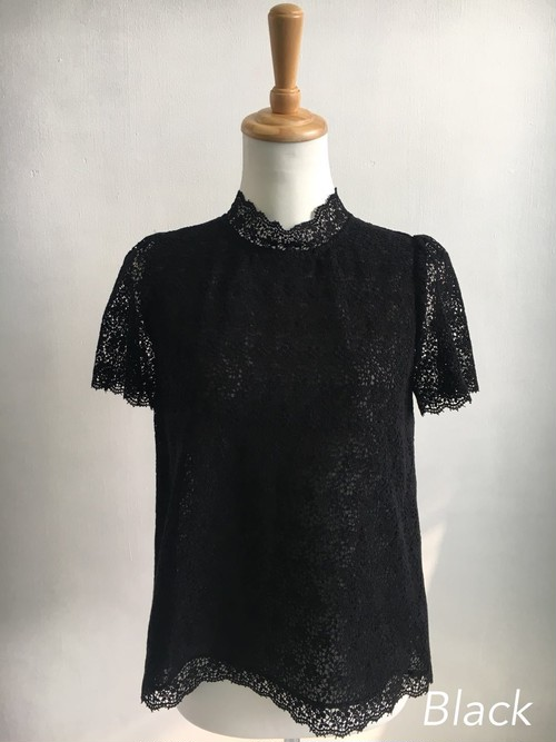 Bilitis dix-sept ans (ビリティス・ディセッタン) Guipure Lace Blouse 2018SS