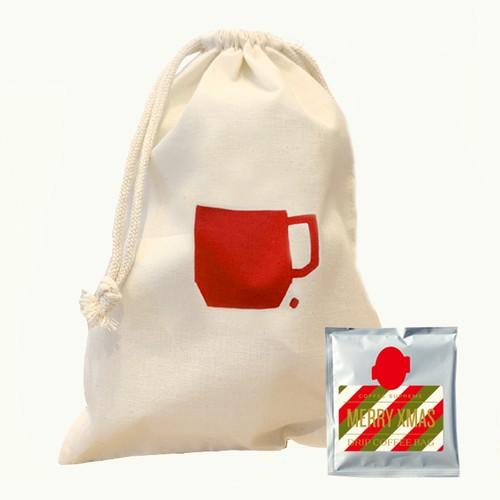 コーヒードリップバッグ5個&巾着セット<SUPREME BLEND クリスマスバージョン>