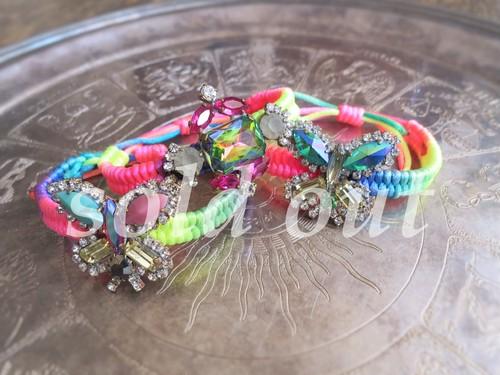 vintage bracelet bijou micanga <MCB-RB1/3>