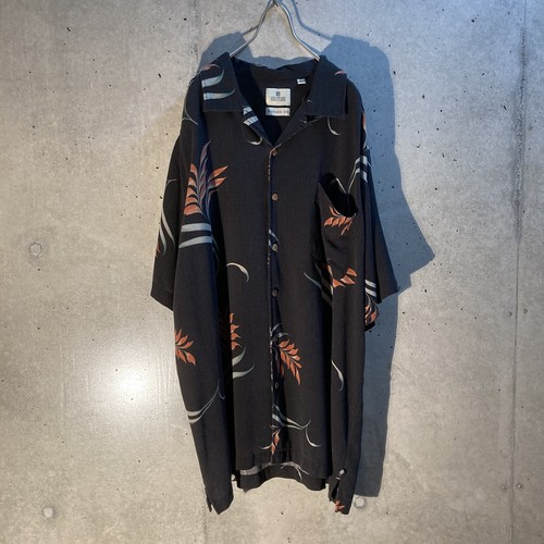 Silk design short sleeve shirt