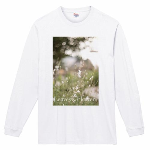 Leaves & Flowers 長袖Tシャツ 7.4oz