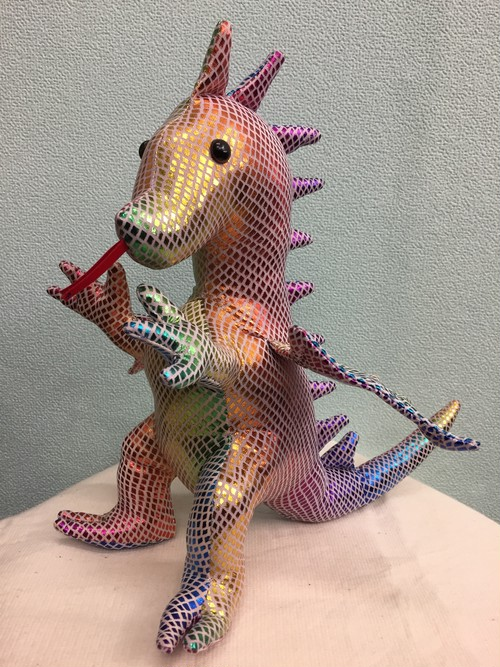 特大ドラゴンちゃん・ホワイトレインボー