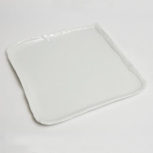 宗像 白磁正角皿