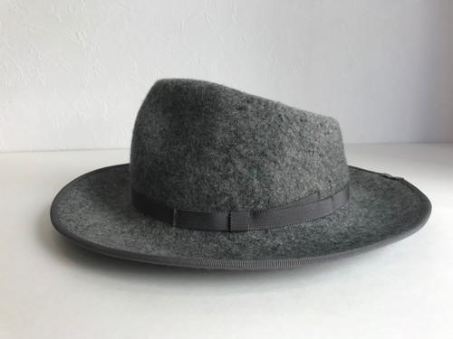 Circle original handmade HAT 「Gray Fedora hat」