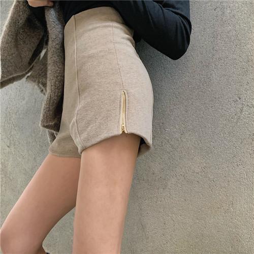 「ボトムス」秋冬ファッションスリットスリムハイウエストカジュアル2色ショートパンツ