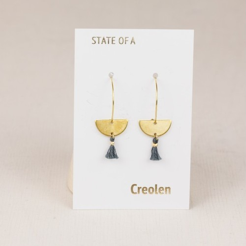 ◇STATE OF A◇ Earring Creole Half Circle Tassel(Item No.11242)