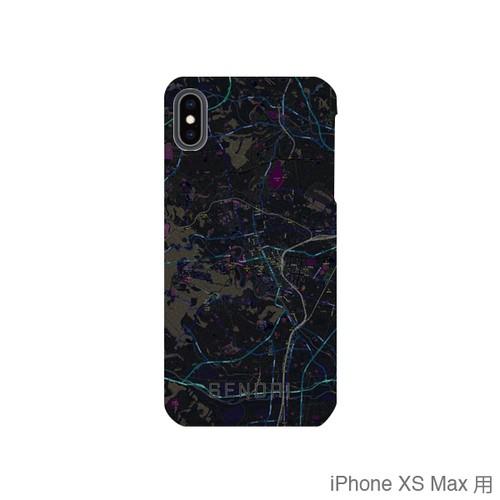 【仙台】地図柄iPhoneケース(バックカバータイプ・ブラック)