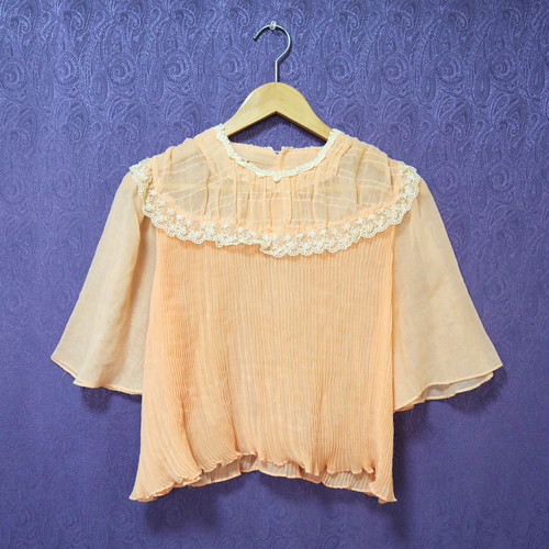 Baby pink lace tops