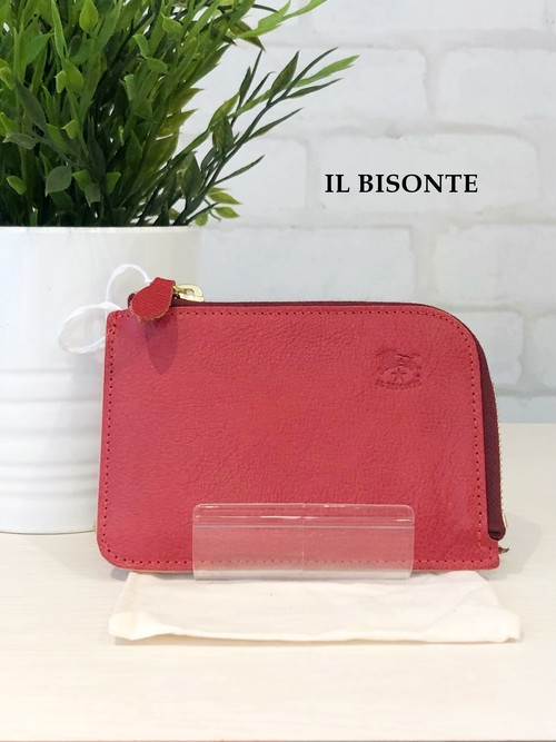 IL BISONTE/ガマ口三つ折り財布/4540(レッド)
