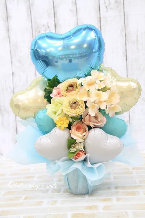 結婚式やお誕生日のお祝いに卓上バルーンギフトd(バルーンアレンジ) 送料込み 引き取りの場合7,500円