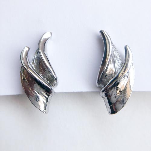 silver design earring[e-1307] ヴィンテージイヤリング