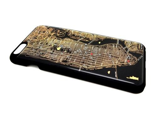 NY回路地図 iPhone6Plusケース 黒【LEDは光りません】【東京回路線図A5クリアファイルをプレゼント】