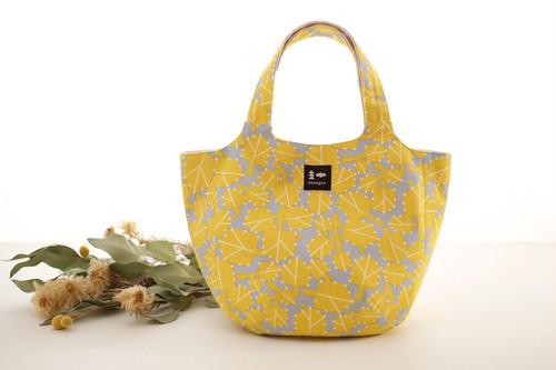 まあるいミニバッグ「朝つゆ」黄色