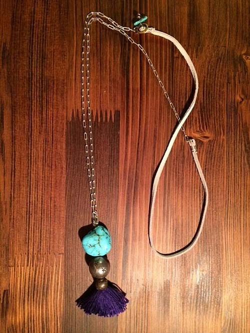 SALE Turquoise long-necklace